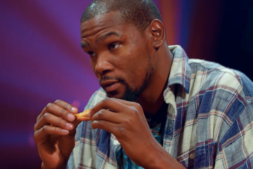 d1c500de9a4f Kevin Durant Faces the Wings of Death on  Hot Ones