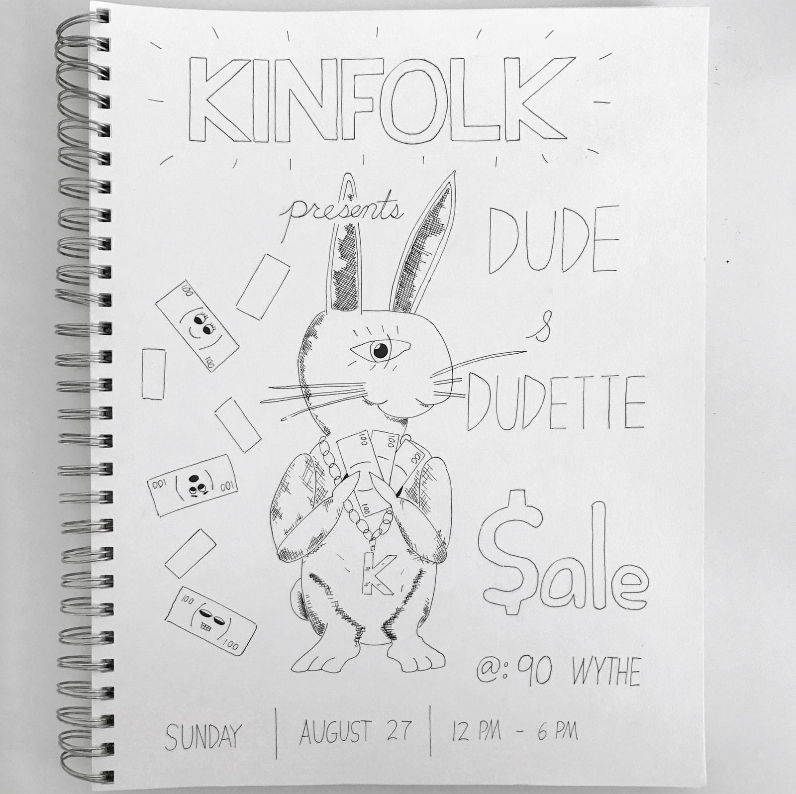 Kinfolk Dude Dudette Sidewalk Sale pop up shop Supreme Bedwin & The Heartbreakers Brain Dead Clothing Apparel Fashion Accessories new york nyc city brooklyn store retail