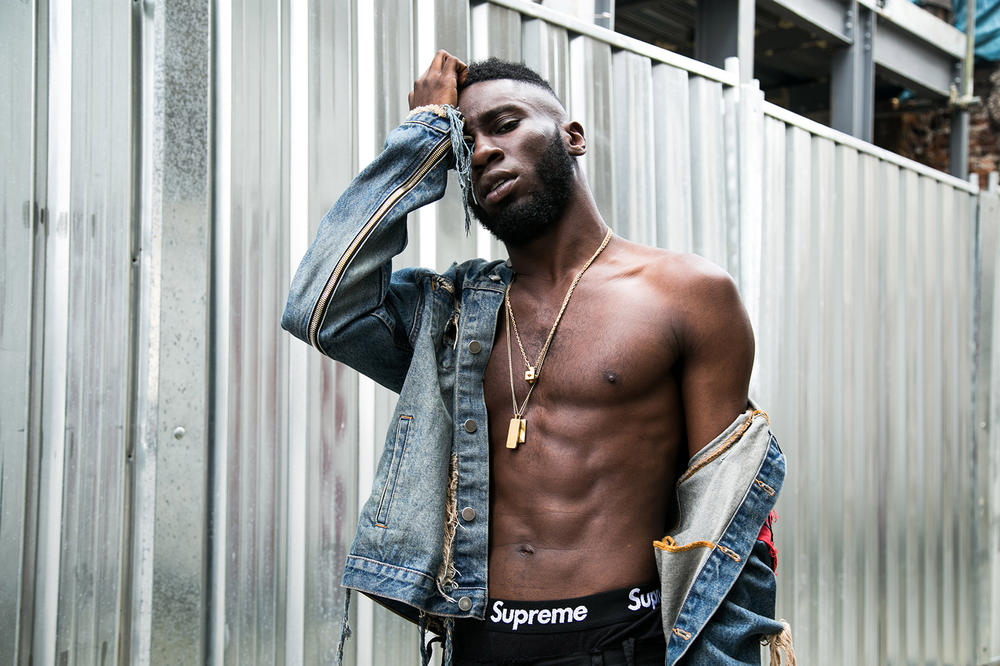 "Kojey Radical ""In Gods Body"" Album Interview London Music style fashion clothing supreme denim jacket jeans grime rap writer artist art"