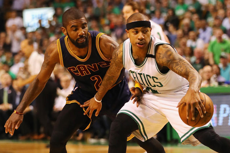 Kyrie Irving Isaiah Thomas Cleveland Cavaliers Boston Celtics