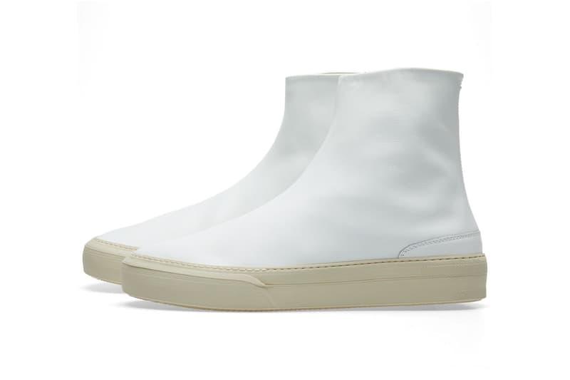 Maison Margiela Glove Sock Sneaker Black White Leather END Clothing Shoes Sneakers Footwear 2017 August Release Date Info