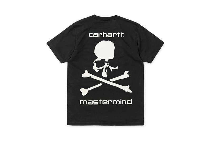 mastermind JAPAN Carhartt WIP TShirt Ikebukuro Opening Exclusive Black Skull Crossbones Logo Tee