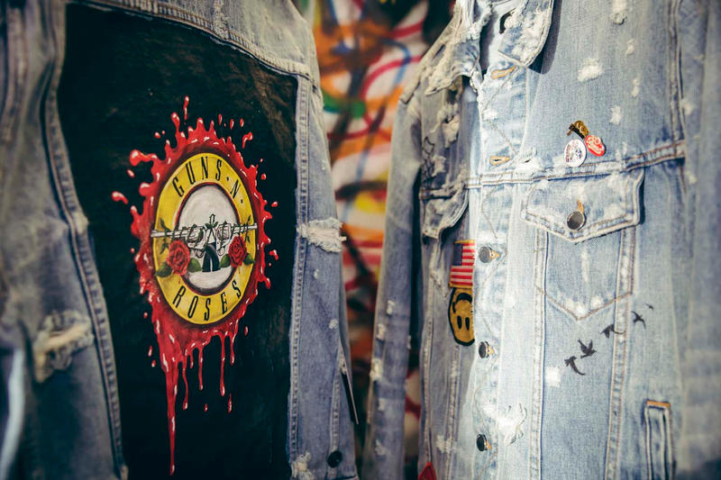 Guns N Roses Maxfield LA Bravado Pop up Launch Party Los Angeles Off White Enfant Riches Deprimes Palm Angels Kelly Cole MadeWorn AMIRI