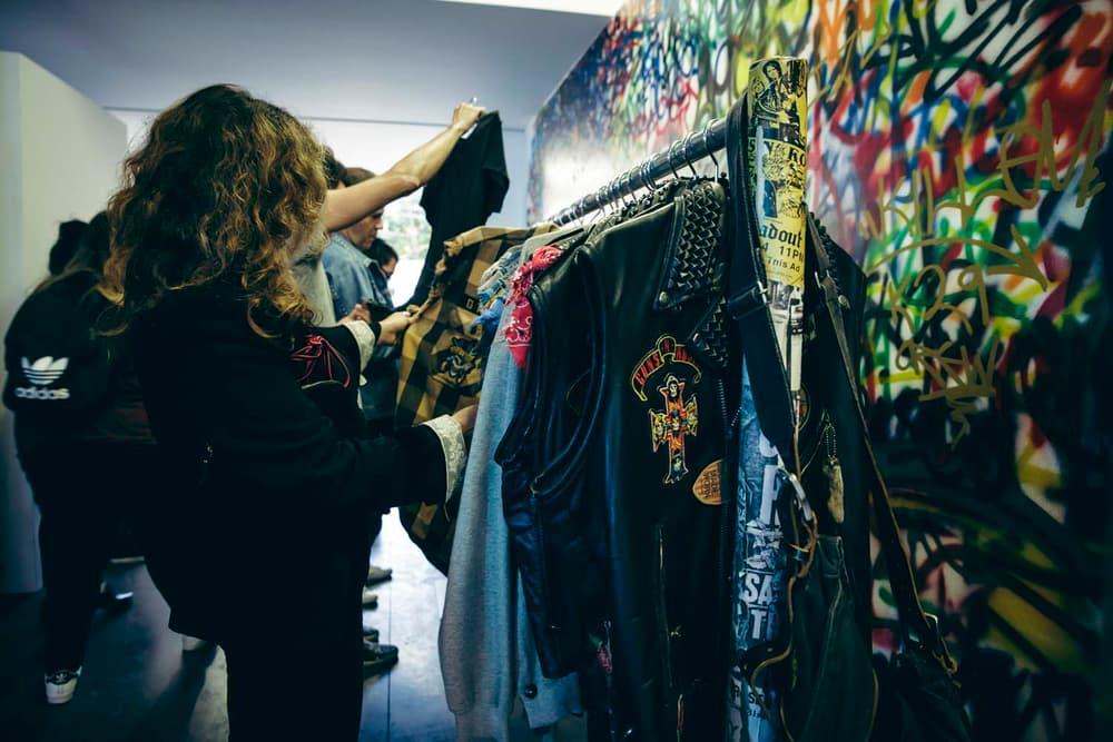 Guns N Roses Maxfield LA Bravado Pop up Launch Party Los Angeles Off White Enfant Riches Deprimes Palm Angels Kelly Cole MadeWorn AMIRI