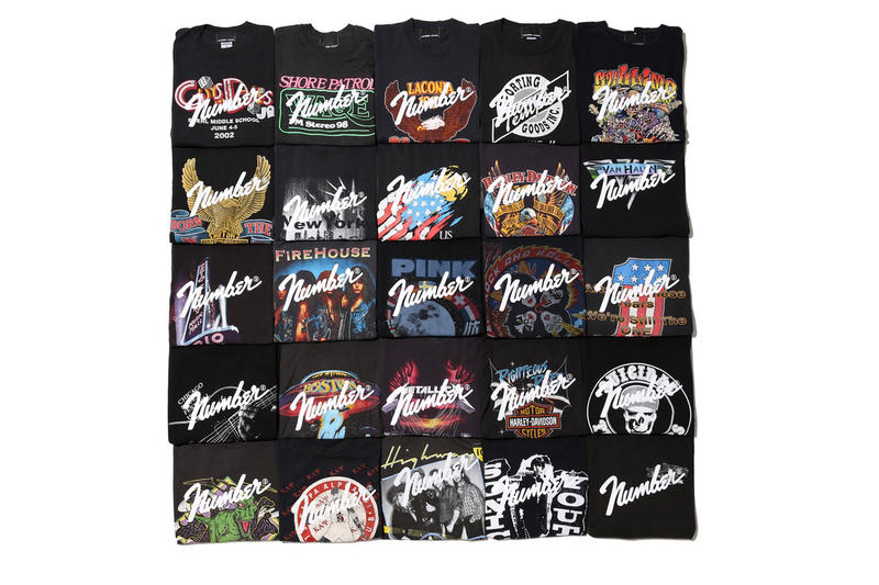 nano universe NUMBER (N)INE Merch T-shirts nine 9 tees band vintage retro store retailer style fashion