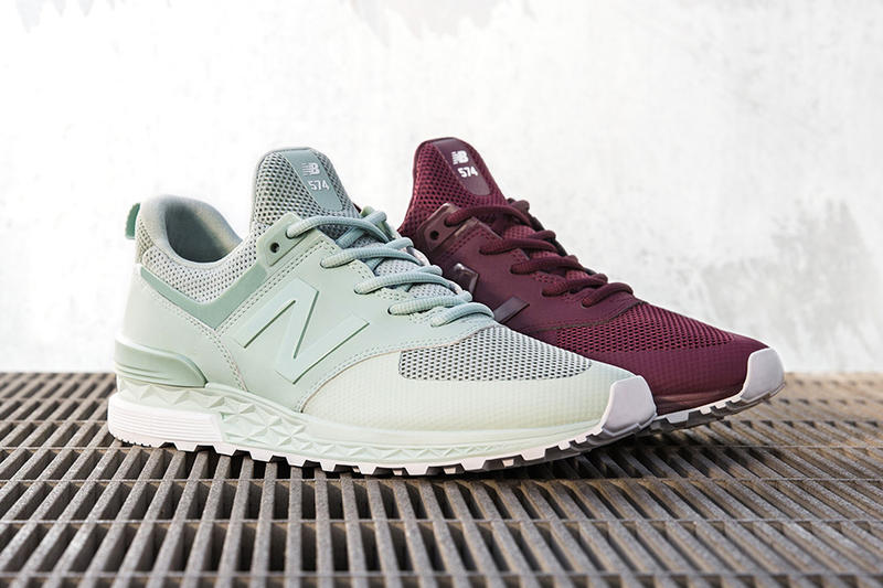 New Balance 574 Sport Gets New Mint and Burgundy Colorways
