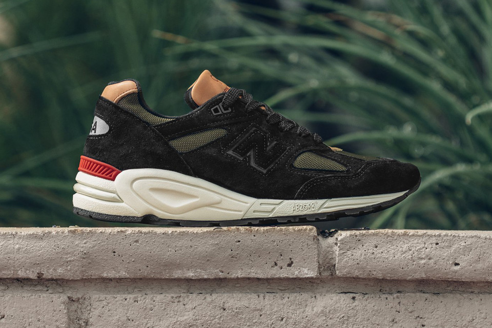 timeless design 09a45 1b2fe New Balance Unveils a Rich, Luxury Black   Green Spin on the Made in USA 990