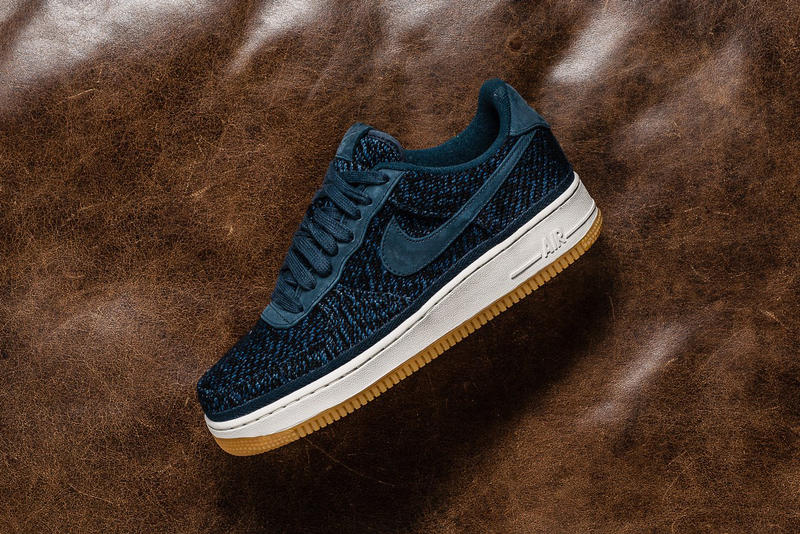 newest 68f0b aeb30 Nike Air Force 1 Low 07 Indigo Wool Gum Sole Sneakers Shoes Footwear 2017  August Release