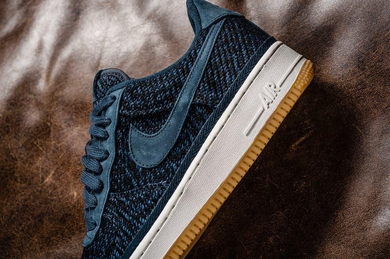 Nike Air Force 1 Low 07 Indigo Wool Gum Sole Sneakers Shoes Footwear 2017 August Release Date Info Sneaker Politics blue navy denim
