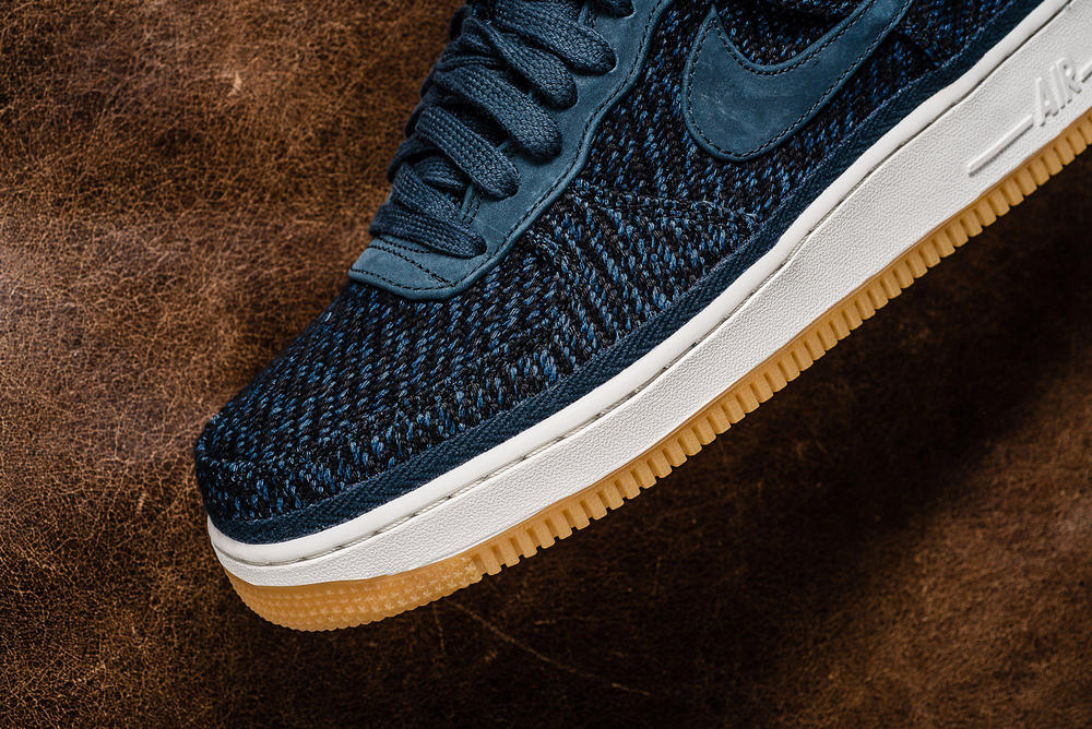 Nike Air Force 1 Low 07 Indigo Wool Gum Sole Sneakers Shoes Footwear 2017 August Release Date Info Sneaker Politics blue navy denim