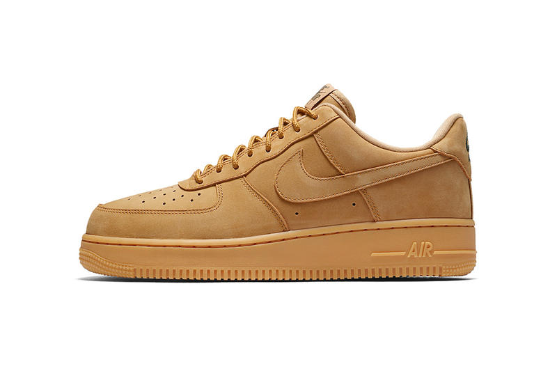 Nike Air Force 1 Low Wheat Flax 2017 Fall Release Retro Sneakers Shoes Footwear October Release Date Info