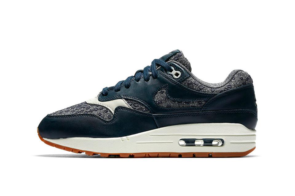 best website ceab5 e7cef The Next Pair of Nike Air Max 1 Premiums Mix Woven Navy Textile With  Classic Gum Soles