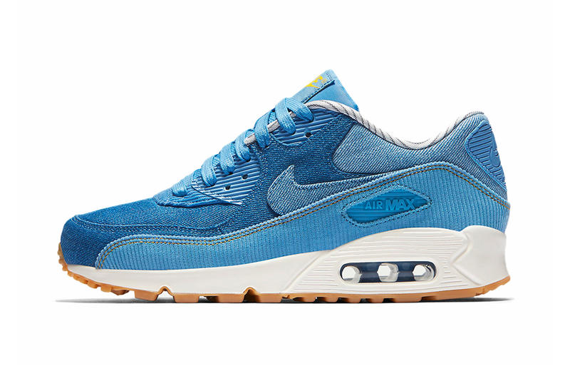 huge selection of 6acd4 19bb6 ... Nike Air Max 90 Surfaces in a Fabric-Blocked Denim Corduroy .