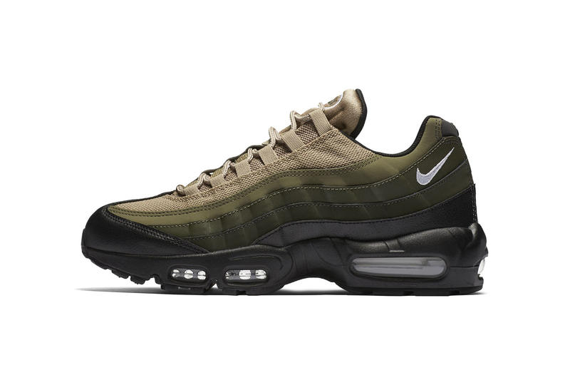 b3be29ac15 Nike Air Max 95 Essential Black Green Khaki 2017 Fall Release Date Info Sneakers  Shoes Footwear