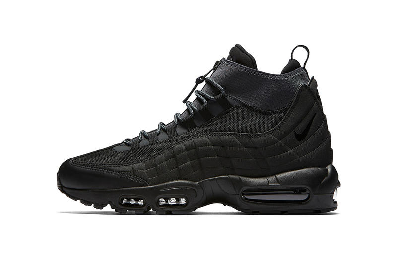 eafed0ea929d Nike Air Max 95 Sneakerboot Triple Black Sneakers Shoes Footwear 2017 Fall  Winter Release Date Info