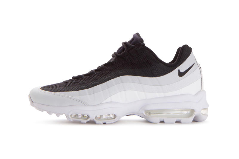 a44a2588f2 Nike Air Max 95 Ultra Essential Black White Pure Platinum grey gray  Sneakers Shoes Footwear Summer