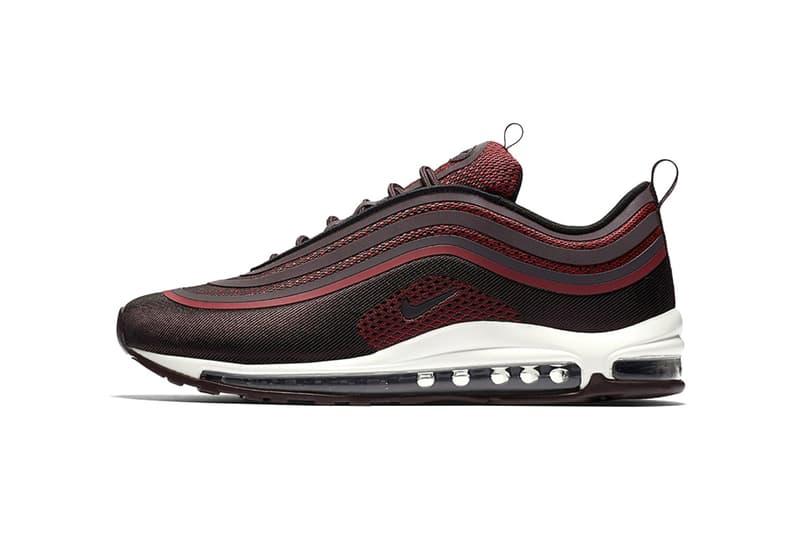 493e1b95f4a69 Nike Air Max 97 Ultra 17 Burgundy Sneakers Shoes Footwear 2017 Release  black white mesh