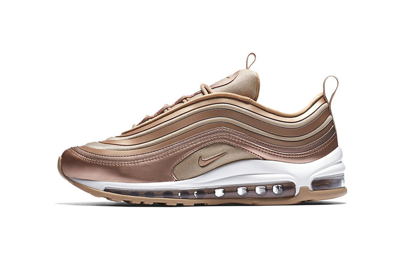 sale retailer f9692 a5fd8 Nike Air Max 97 Ultra Metallic Bronze Gum Sole Sneakers Shoes Footwear 2017  Fall Release Date