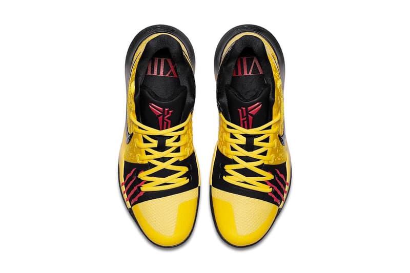 Nike Kyrie 3 Bruce Lee Kobe Bryant Black Mamba Sneakers Shoes Footwear 2017 September 15 Release Date Info Red Yellow Black