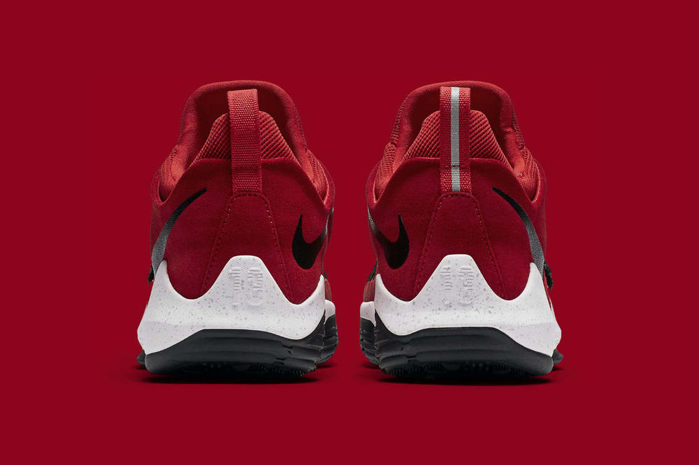 Nike PG1 University Red Colorway Paul George Oklahoma City Thunder Indiana Pacers Signature Shoe Sneaker