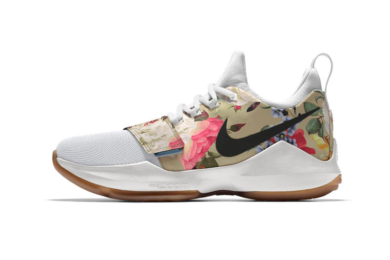 wholesale dealer 88f8d 2b05a NIKEiD PG1 Tan and Black Floral Print | HYPEBEAST