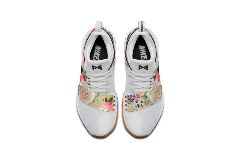 59c7e6e0764f NIKEiD PG1 Tan and Black Floral Print