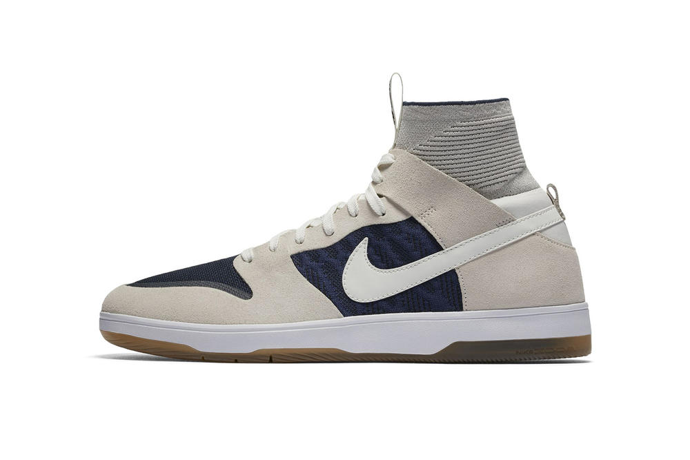Nike SB Dunk High Elite Off White Navy Gum Sole Sneakers Shoes Footwear 2017 September 1 Release Date Info