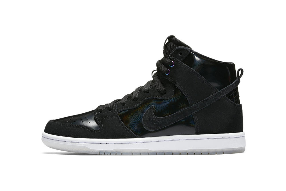 Nike SB Dunk High Holographic Black White Sneakers Shoes Footwear 2017 Summer Release Date Info