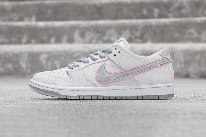 Nike SB Dunk Low Pro Ishod Wair Grey White Pink 2017 September 7 Release Date Info Sneakers Shoes Footwear