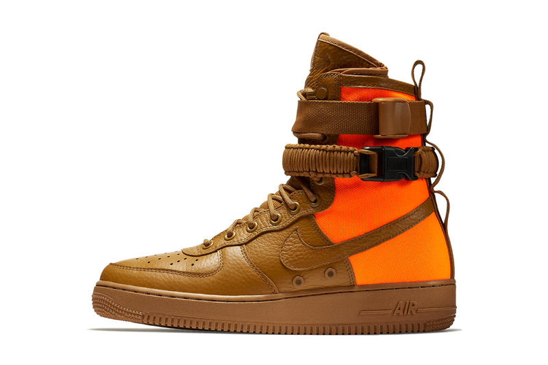 Nike SF AF1 High Desert Ochre Total Orange Air Force 1 2017 September Release Date Info Sneakers Shoes Footwear