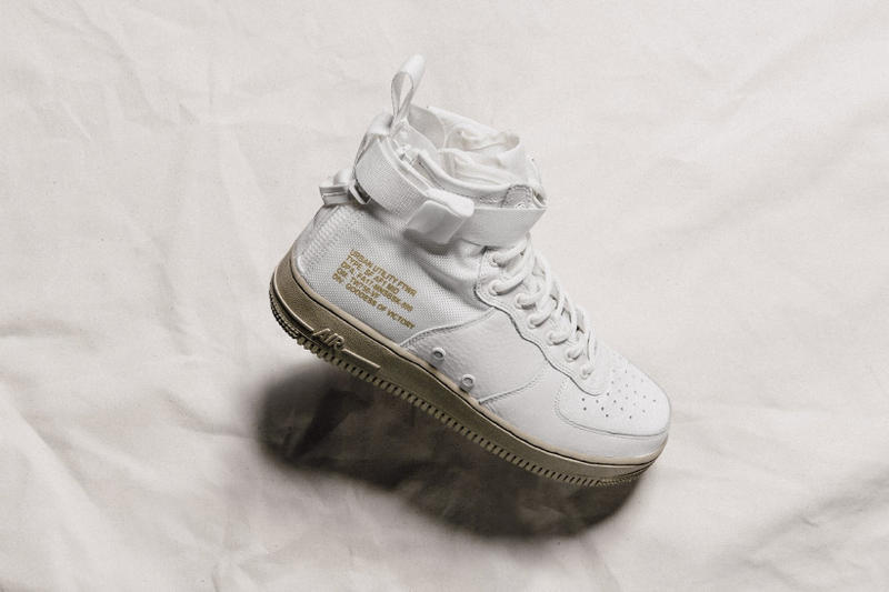 Nike SF AF1 Mid Neutral Olive Sneakers Shoes Footwear 2017 August Release Date Info