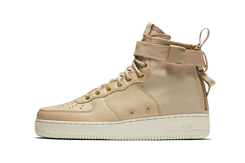 Nike SF AF1 Mid Mushroom Air Force 1 Sneakers Shoes Footwear 2017 August Summer Release Date Info