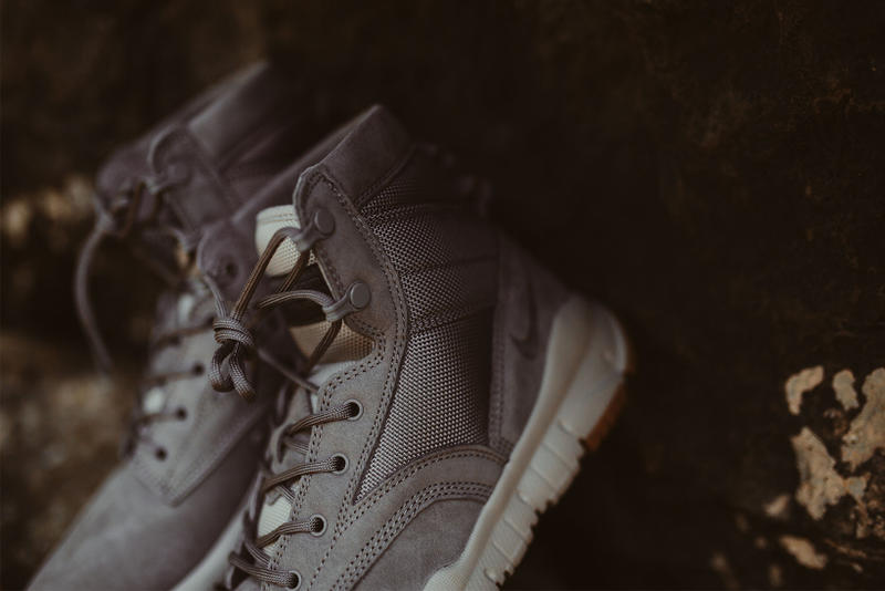 Nike SFB 6 NSW Leather Dust Pale Grey River Rock Special Field Boot Six Inch Sneakers Shoes Footwear 2017 August Rock City Kicks