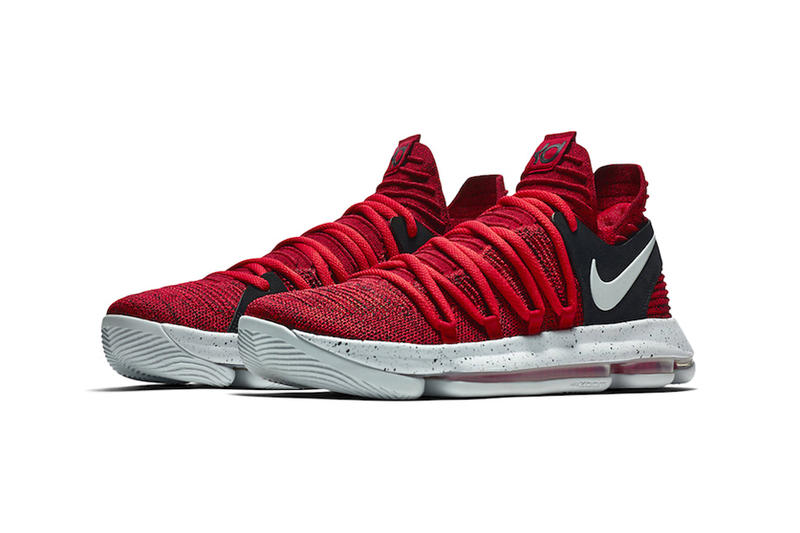 "Nike KD 10 ""University Red"" Colorway Closer Look Release Date"