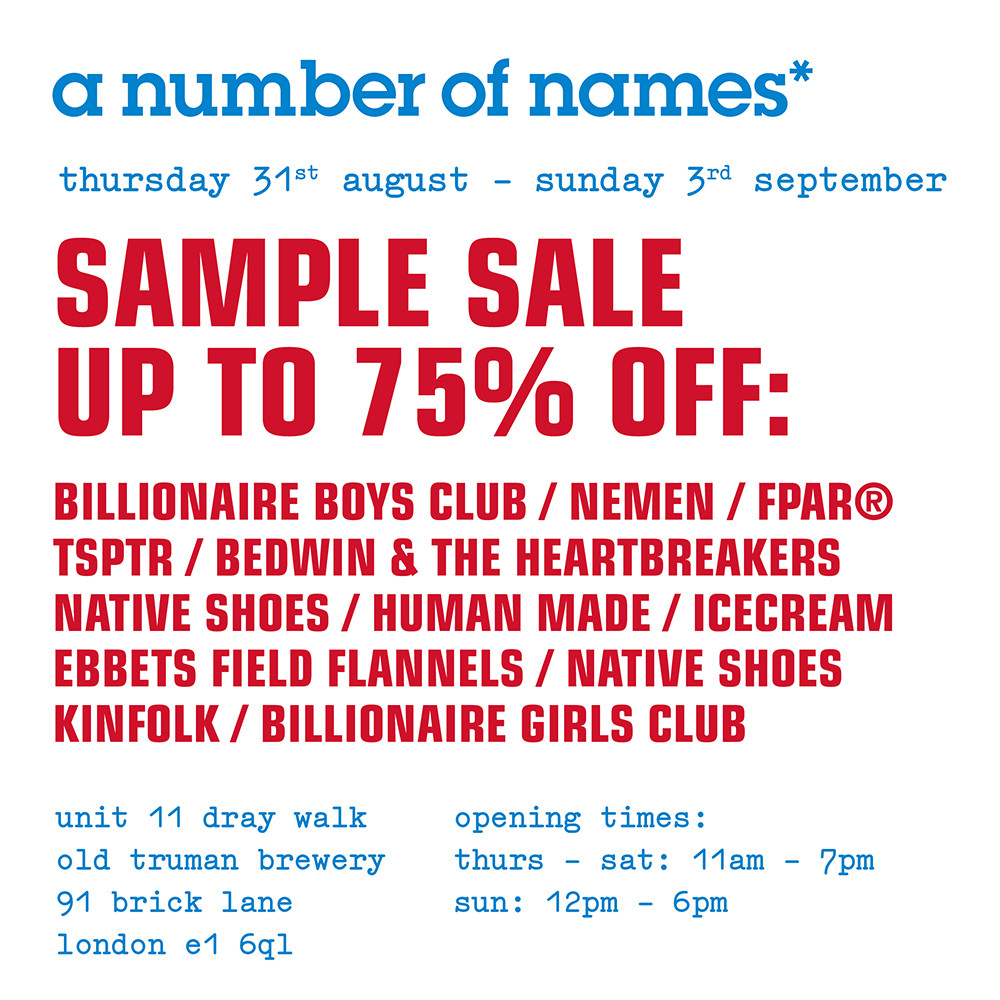 Billionaire Boys Club EU Sample Sale in London