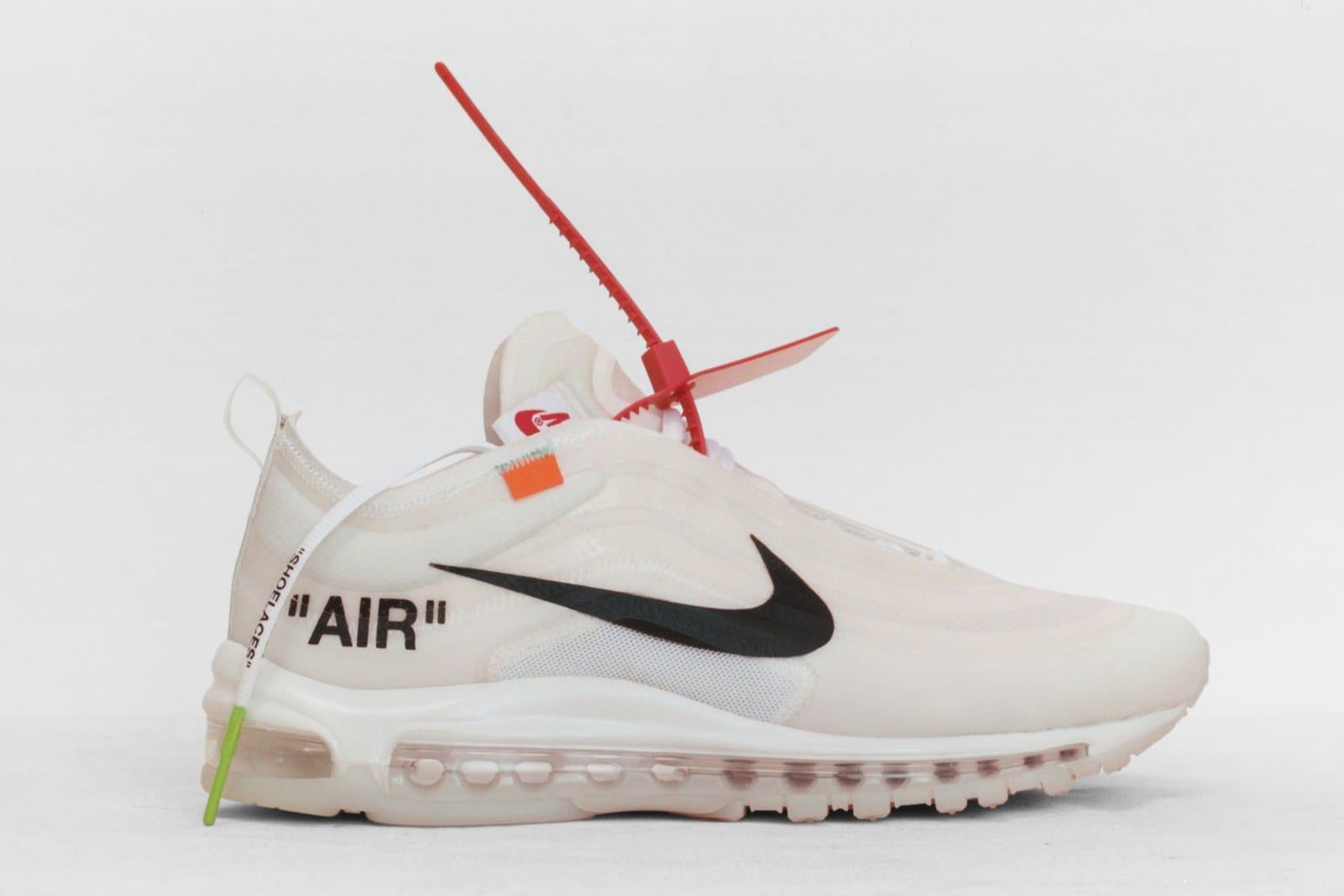 c6aaae0d4f43 Off White Nike Air Max 97 Running Shoes Peach Red Black Air Max 97 ...