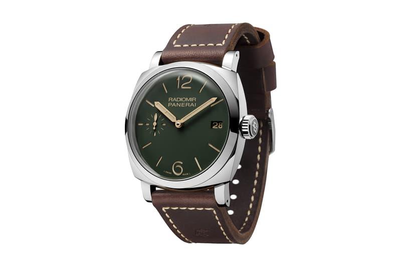 Panerai Limited Edition Green Dial Collection Watches Radiomir Titanio Acciaio Luminor Chrono Monopulsante