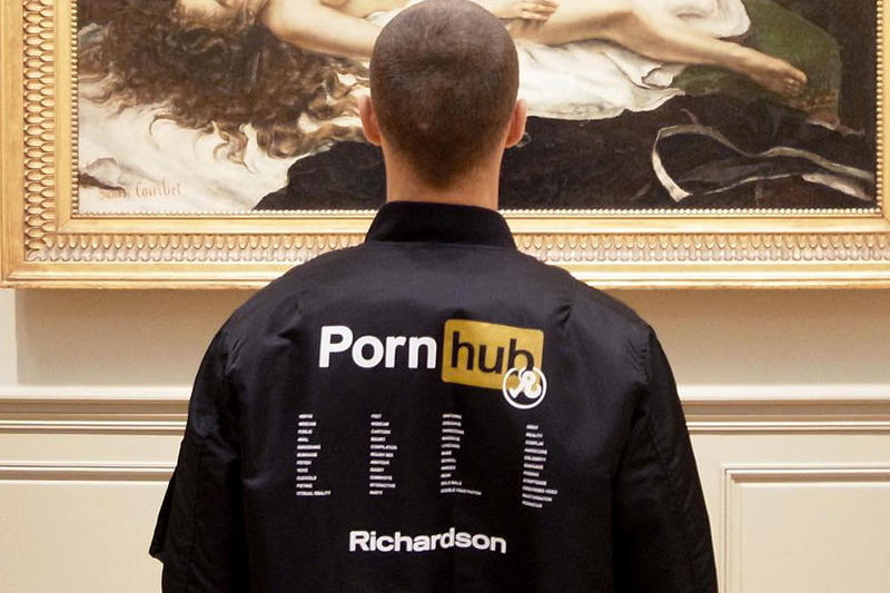 PornHub Richardson Instagram Teaser Collaboration Jacket Black