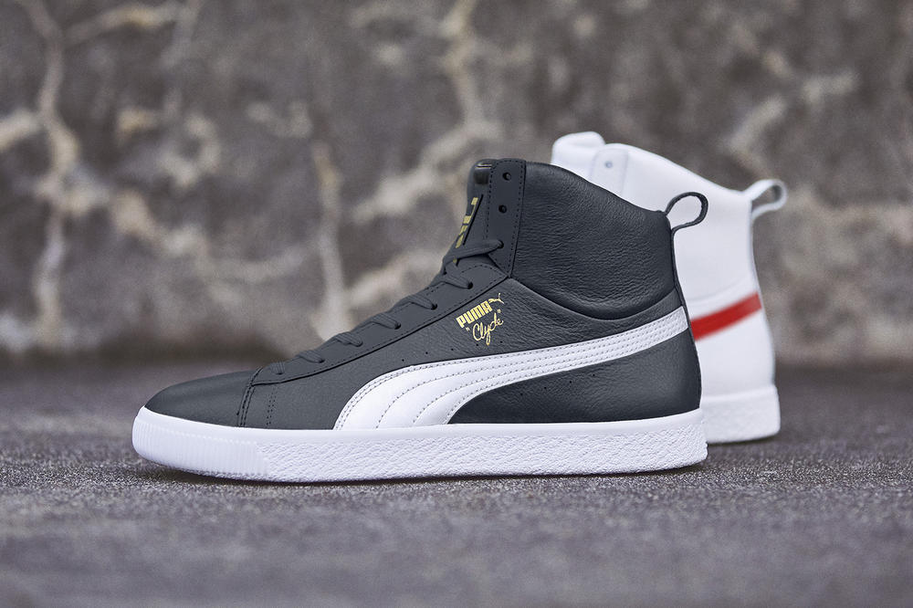 PUMA Clyde Mid Foil Sneakers Shoes Footwear 2017 August Release Date info black white red