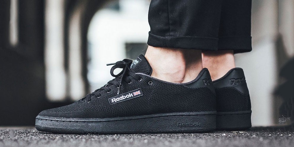 reebok club c 85 black on feet