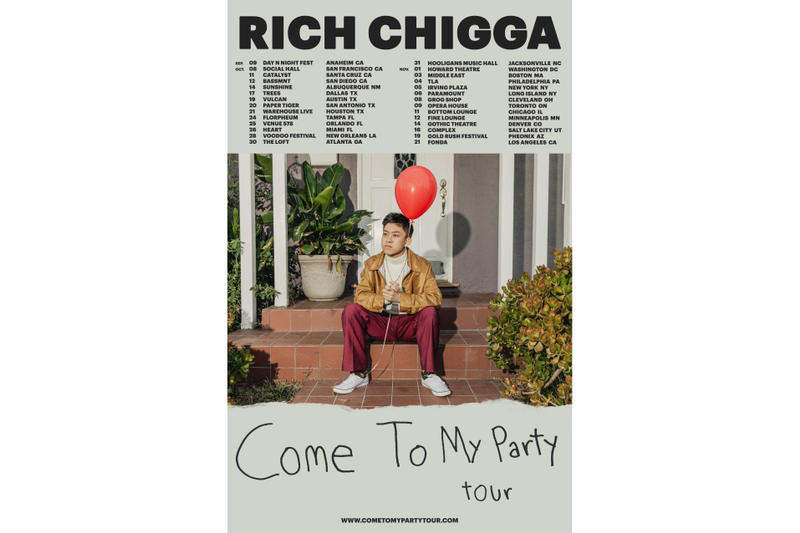 Rich Chigga Come To My Party Tour