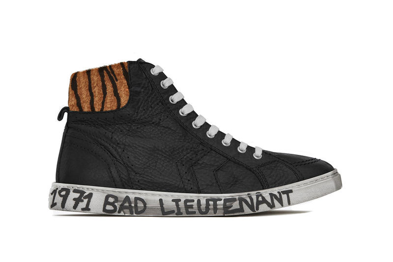 47fd1a357fb Saint Laurent Joe Sneakers With Midsole Writing off-white virgil abloh yves  shoes kicks bad