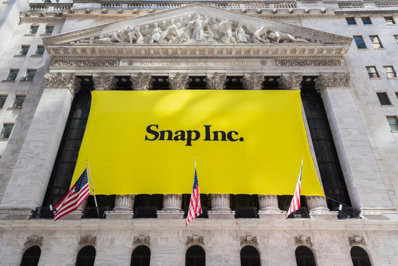 Snap Stock Falls Barred From S&P 500