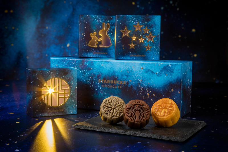 Starbucks Mooncakes Mooncake Mid Autumn Festival 2017 Gift Box Vanilla Custard Latte Mochi Earl Grey Tea Salted Caramel Lava Coffee