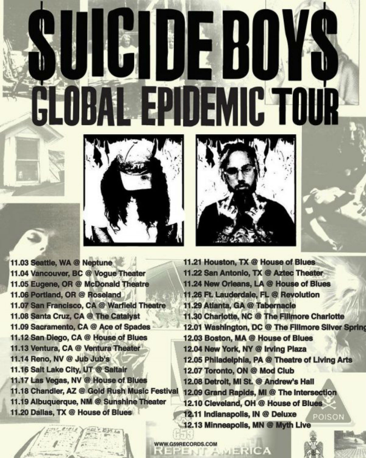 $UICIDEBOY$ Tour 2017 Music Video 2nd Hand Video