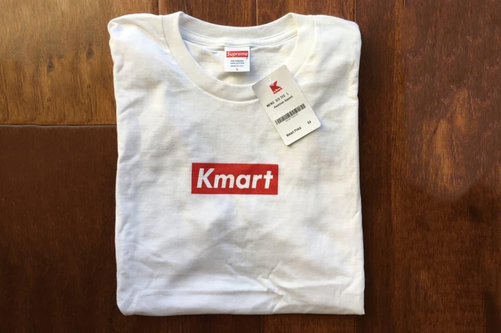 Supreme Blanks Used For Kmart Box Logo Tees