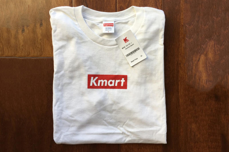 Supreme Blanks Used For Kmart Box Logo Tees
