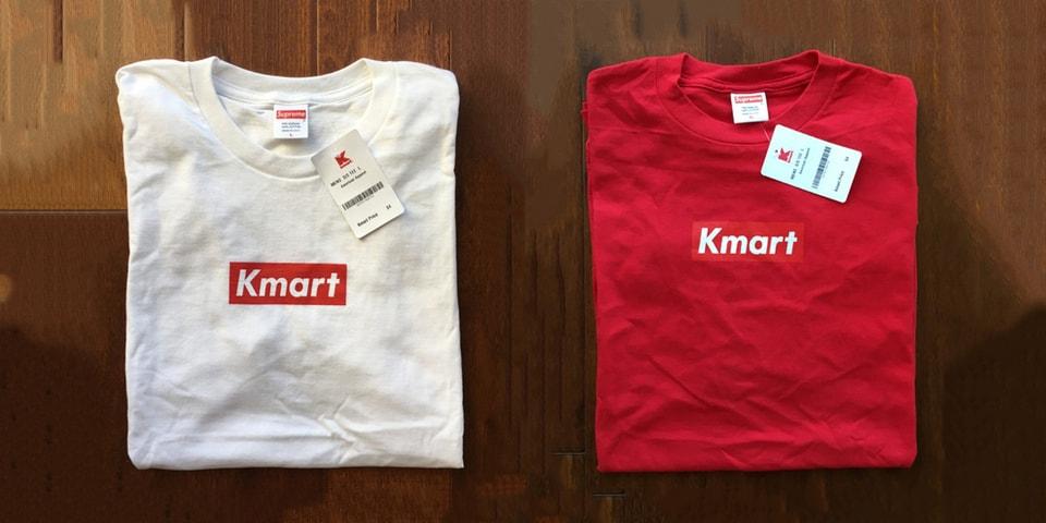 8ec3fbad5635 Supreme Blanks Used For Kmart Box Logo Tees