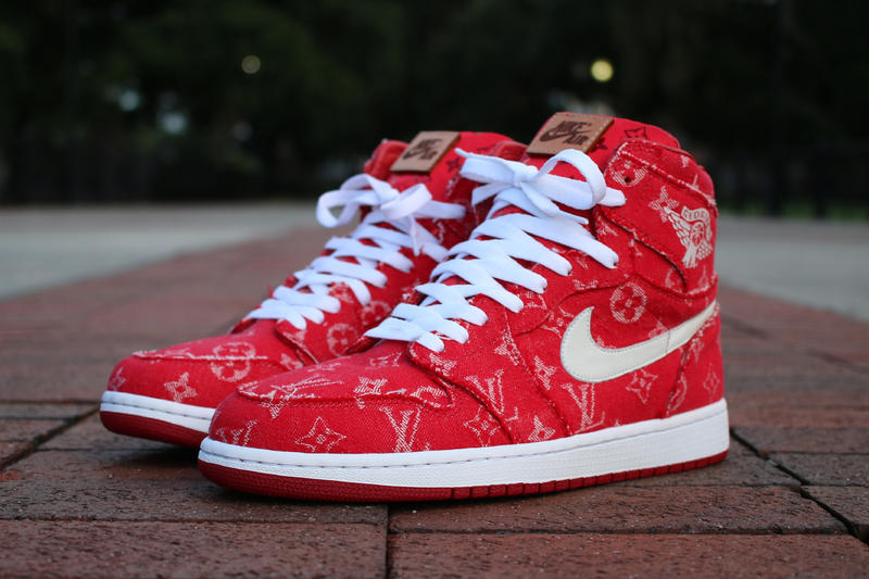 80ea571963e If you can't buy them, might as well make them. Supreme x Louis Vuitton Air  Jordan ...
