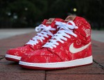 The Red Supreme x Louis Vuitton Baseball Jersey Was Used to Customize This Air Jordan 1